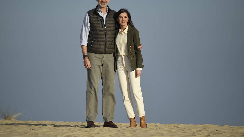 King Felipe VI of Spain, Queen Letizia of Spain visit Donana National Park on February 13, 2020 in Spain