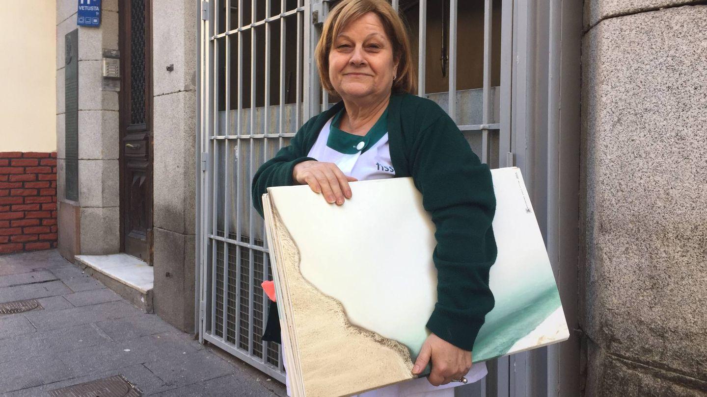 Nieves es limpiadora en la Cámara de Comercio e Industria de Madrid y hará huelga. (EC)