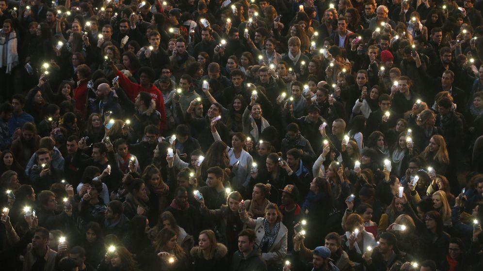 Foto: Homenaje a las víctimas de los atentados.