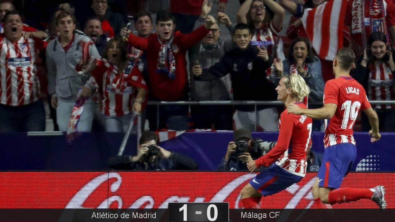 Foto: Antoine Griezmann marcó el gol del triunfo en la inauguración del Wanda Metropolitano. (EFE)