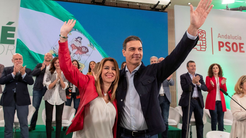 Foto: El presidente del Gobierno, Pedro Sánchez, y la presienta de Andalucía, Susana Díaz. (EFE)