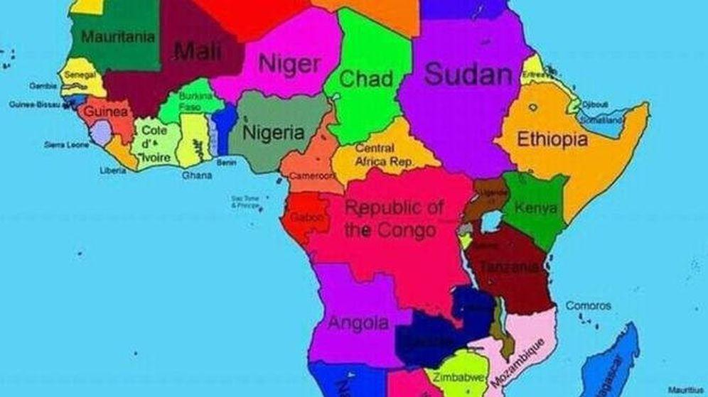 Foto: El mapa que el gobierno de Etiopía subió a su web y en el que Somalia ha desaparecido