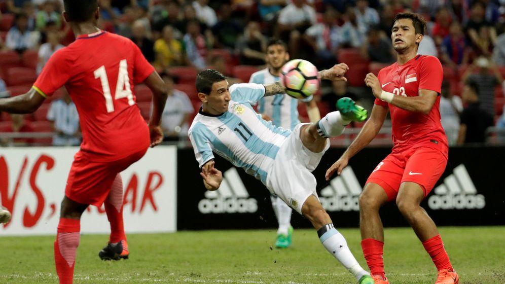 Foto: Ángel di María, en un partido con Argentina el pasado 13 de junio. (Reuters)