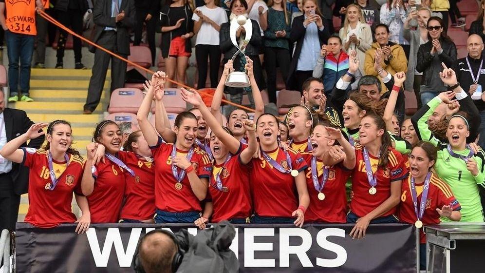 Foto: La Sub 17 femenina se llevó el Campeonato de Europa disputado en Islandia (FOTO: es.uefa.com/@Sportsfile)