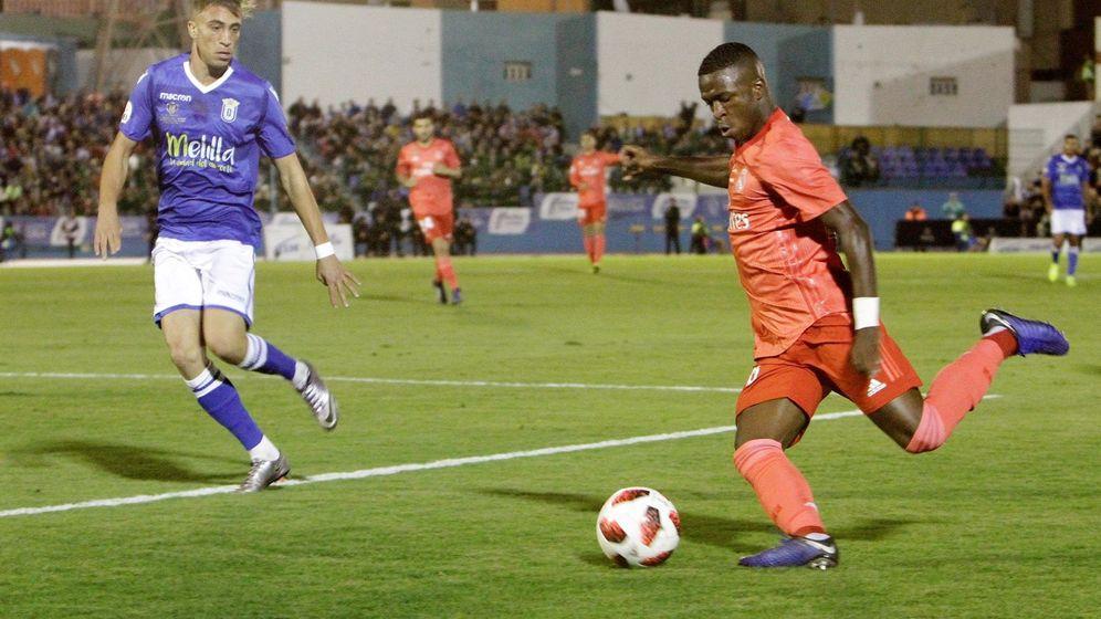 Foto: Vinicius fue titular el miércoles contra el Melilla en la Copa del Rey. (EFE)