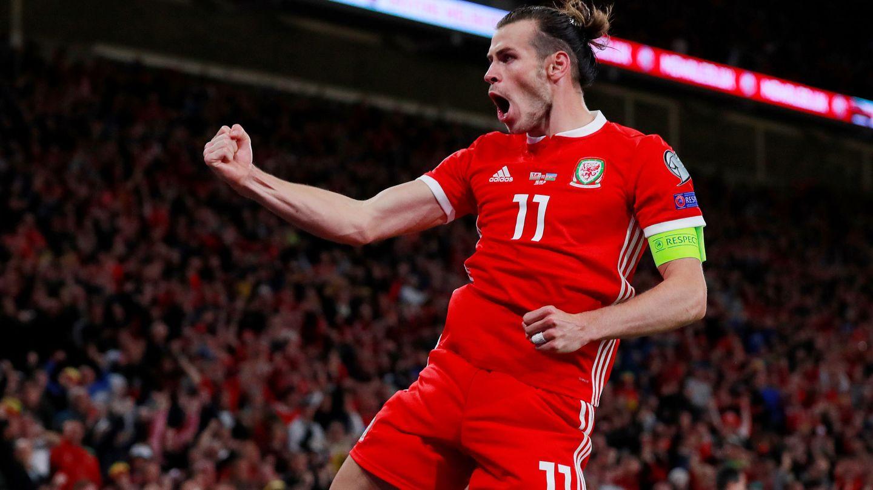 Bale, celebrando un gol con Gales esta temporada. (Reuters)