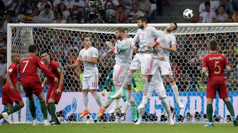 Foto: La falta de Cristiano Ronaldo que ha evitado la victoria de España ante Portugal. (EFE)