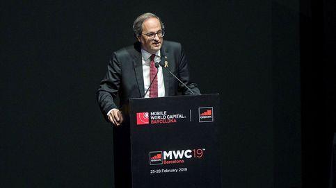 Quim Torra planta al Rey a su llegada al Mobile World Congress