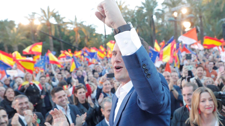 El presidente de Ciudadanos, Albert Rivera, en el cierre de campaña de abril. (EFE)