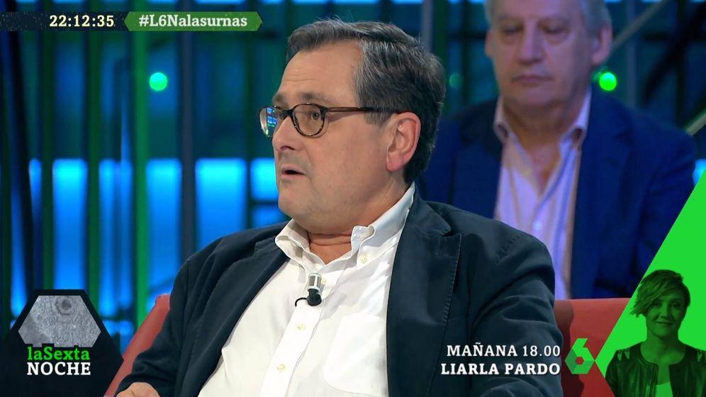 Foto: Francisco Marhuenda, en el plató de 'La Sexta noche'. (Atresmedia).