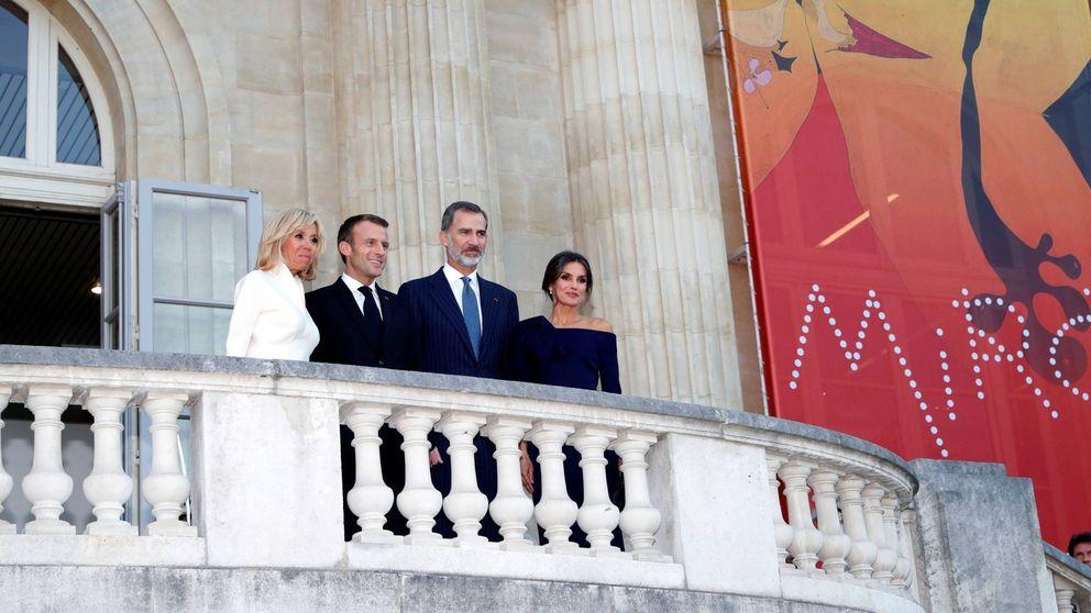 Letizia, espectacular en un duelo de altura con Brigitte Macron