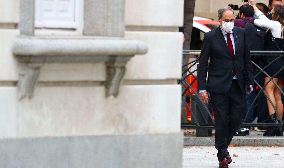 Foto: El 'president' Quim Torra, a su llegada al Tribunal Supremo este jueves. (Reuters)