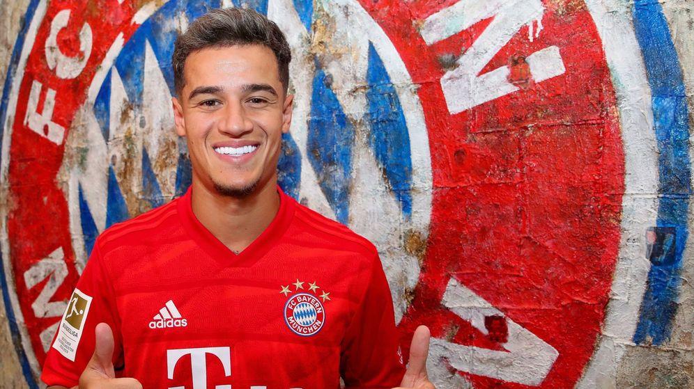 Foto: Philippe Coutinho posa con la camiseta del Bayern de Múnich. (Efe)