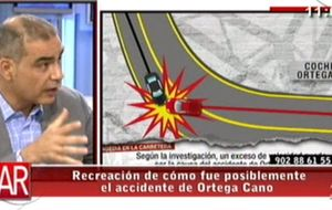 Reconstrucción del accidente de José Ortega Cano