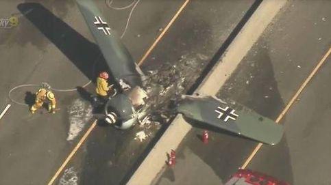 Aparatoso accidente de un avión de la I Guerra Mundial en California