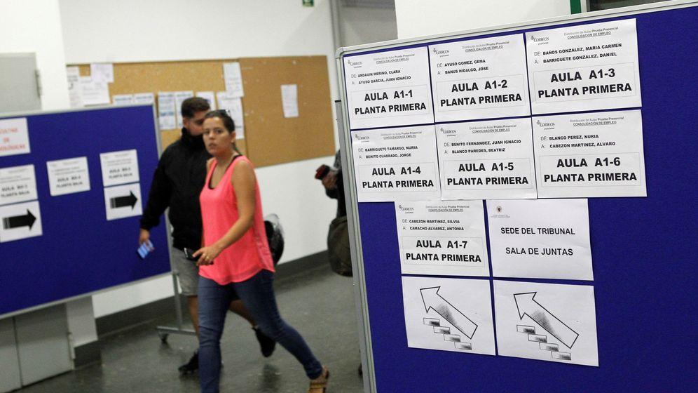 Foto: Oposiciones de Correos en septiembre de 2018 (EFE)