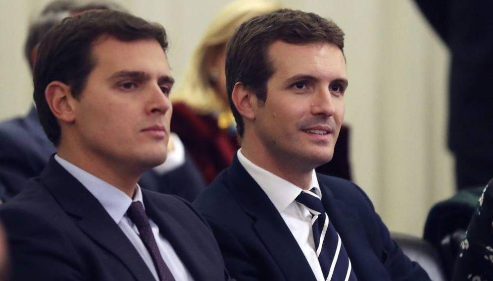 Foto: Albert Rivera, junto a Pablo Casado, en una foto de archivo. (EFE)