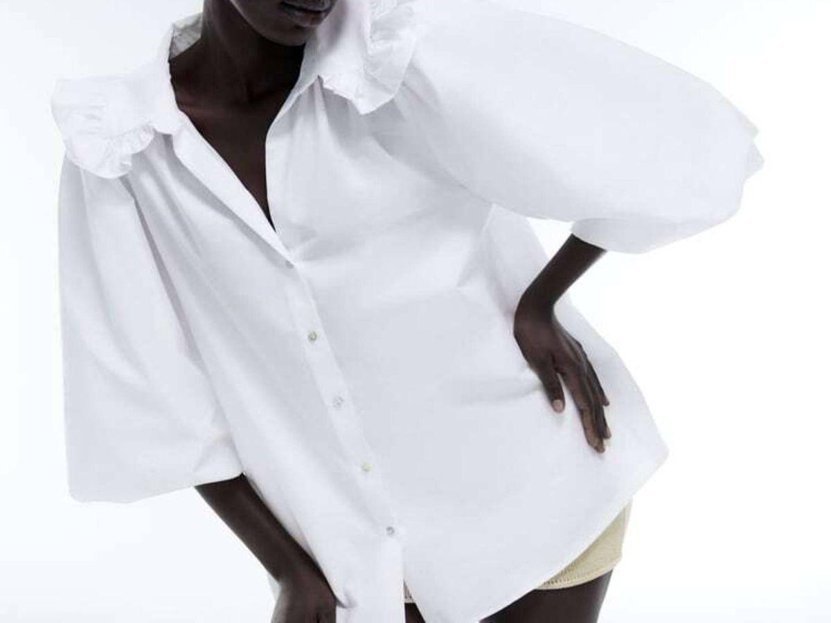 Foto: La camisa blanca de Zara. (Cortesía)