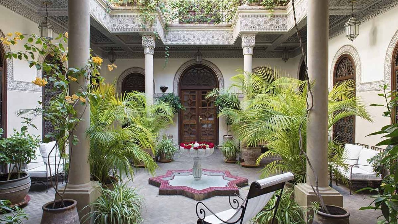 Un patio del riad Villa des Orangers. (Cortesía)