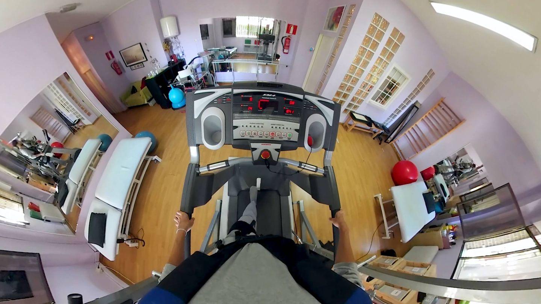 Imagen de uno de los ejercicios que ven los pacientes del método FOREN. (Cedida)