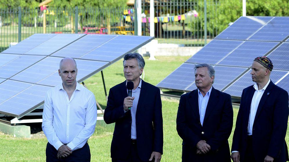 Foto: Macri, junto al ministro de Energía, al de Ambiente y el jefe de Gobierno de Buenos Aires (EFE)