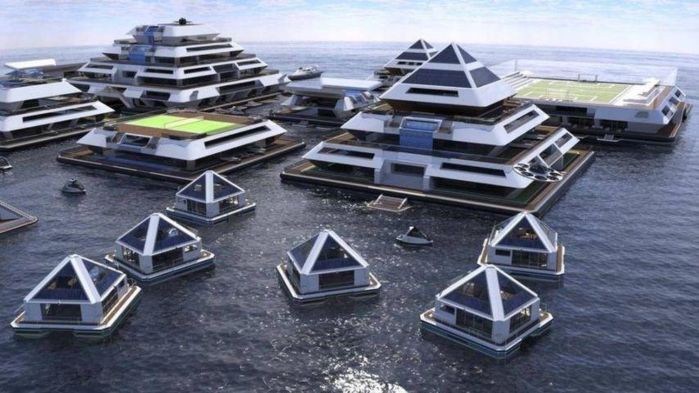 Foto: Prototipo de las ciudades-pirámide de Wayaland. (Foto: Lazzarini Design Studio)