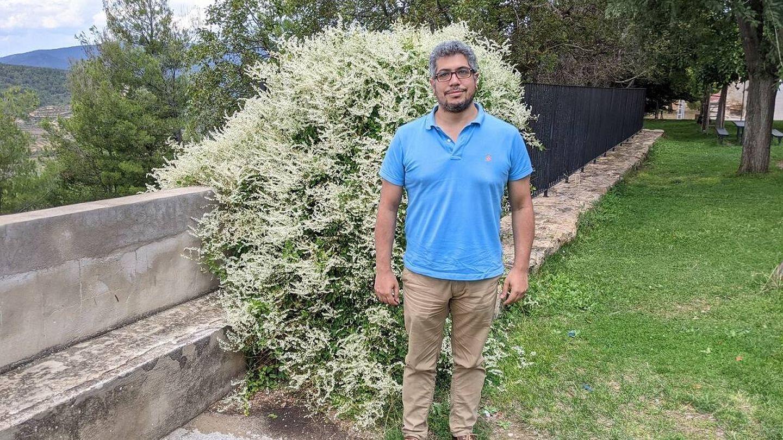 Mutaz Alajami, ingeniero de la empresa municipal de servicios y suministros del pueblo. (A. V)