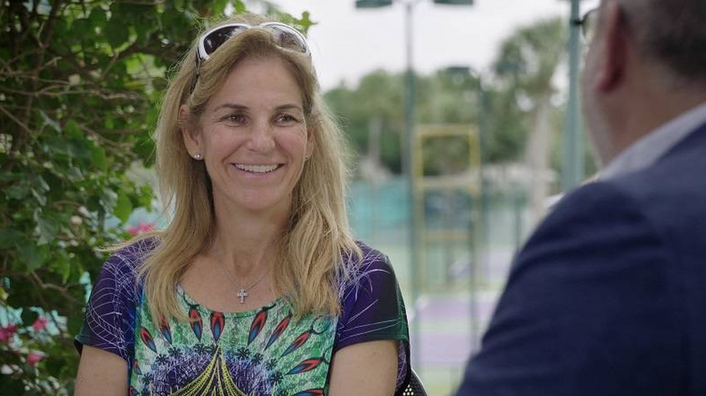 Arantxa Sánchez Vicario, durante la entrevista en TV3. (Cortesía)