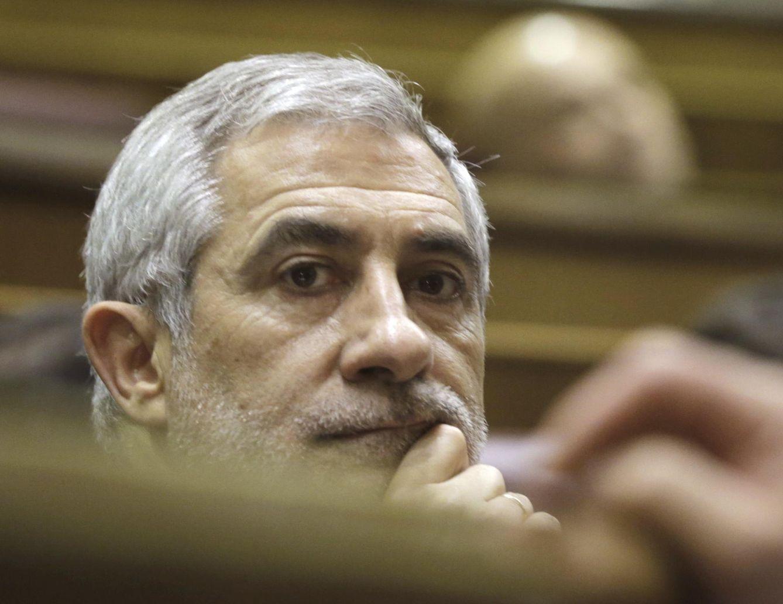 Gaspar Llamazares, coportavoz de Izquierda Abierta, en el Congreso. (EFE)