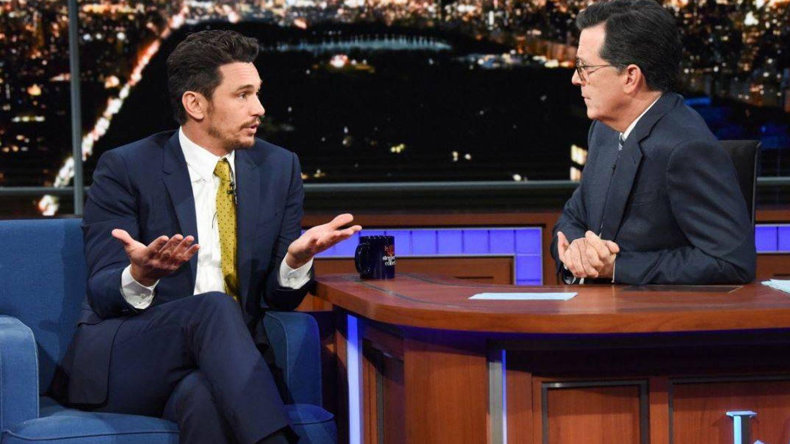 Foto: El actor James Franco en el programa 'The Late Show'.