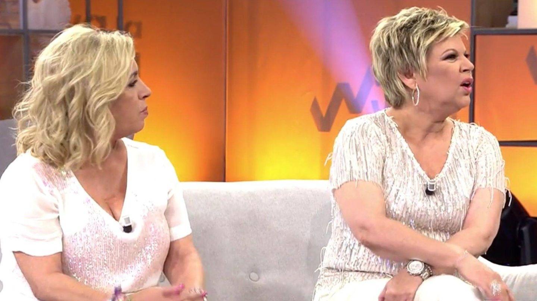 Carmen Borrego y Terelu, en 'Viva la vida'. (Mediaset)