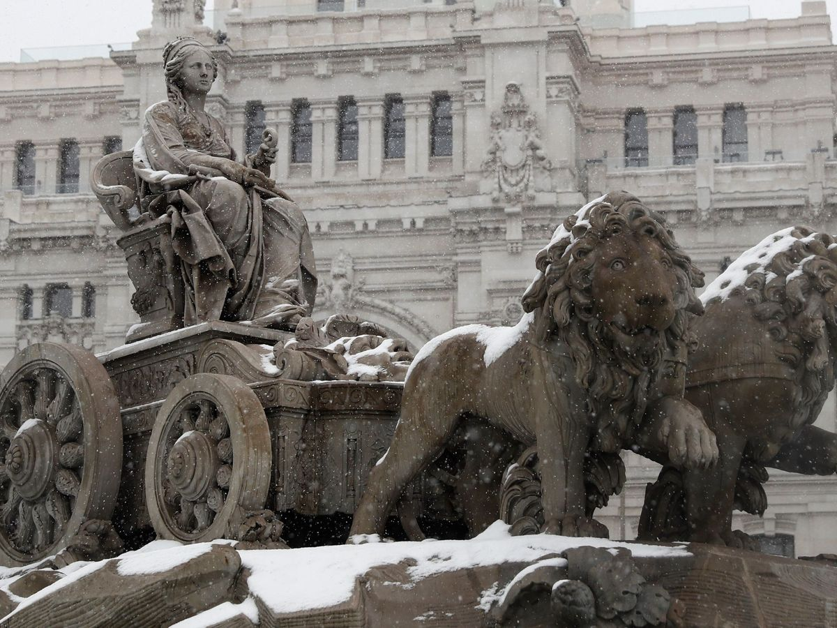 Foto: Vista de la fuente de La Cibeles, en Madrid. (EFE)