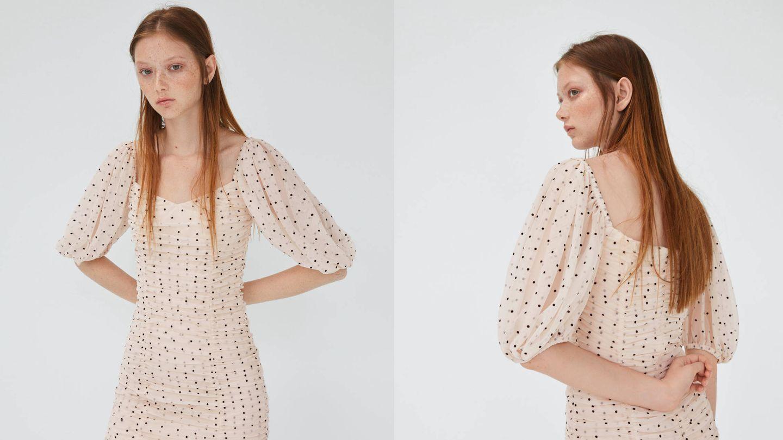 El drapeado más estiloso de Zara.  (Cortesía)