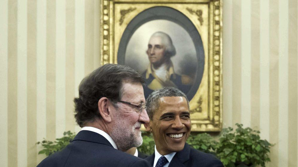 Foto: El presidente en funciones del Gobierno, Mariano Rajoy (i), y el presidente de Estados Unidos, Barack Obama. (EFE)
