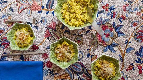 Arroz con lentejas de Egipto y cebollas crujientes de Rosa Tovar