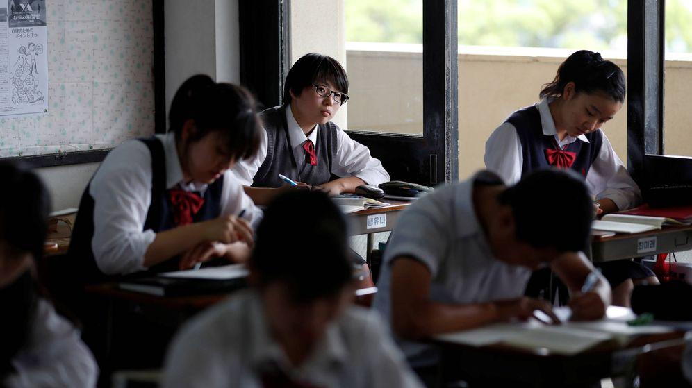 Foto: Estudiantes en una clase de Yokohama. (Reuters)