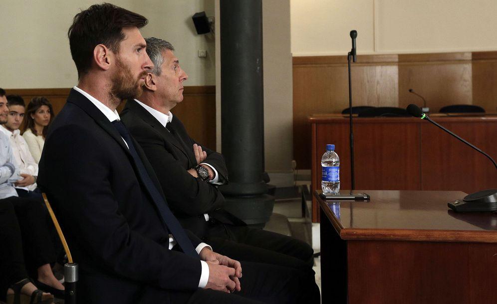 Foto: Imagen del juicio contra Messi y su padre por fraude fiscal. (EFE)
