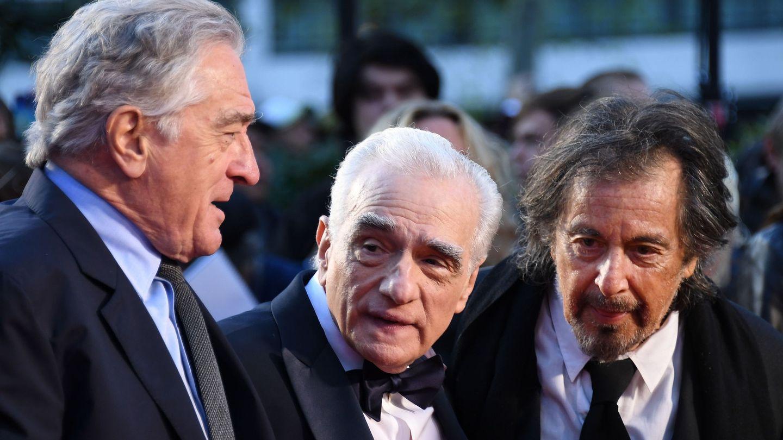 Robert De Niro, Martin Scorsese y Al Pacino. (EFE)