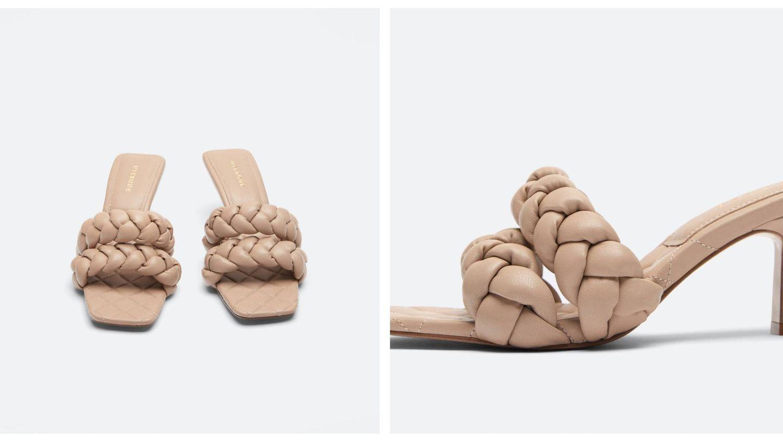 Las sandalias de Uterqüe. (Cortesía)