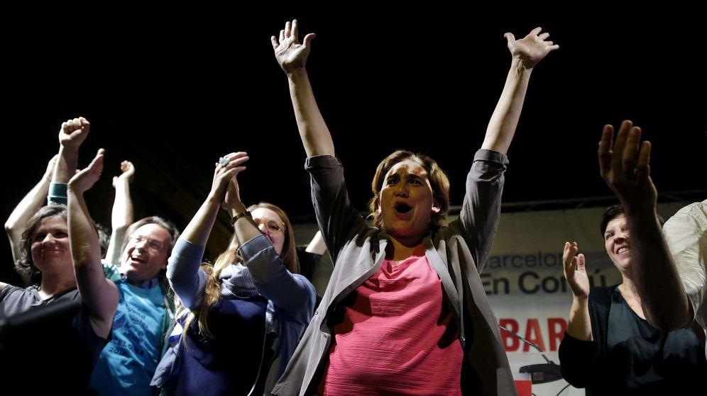 Foto: Ada Colau, de Barcelona en Comú, se dirige a sus simpatizantes tras convertirse en la primera mujer que ha ganado las elecciones municipales en Barcelona. (Efe)