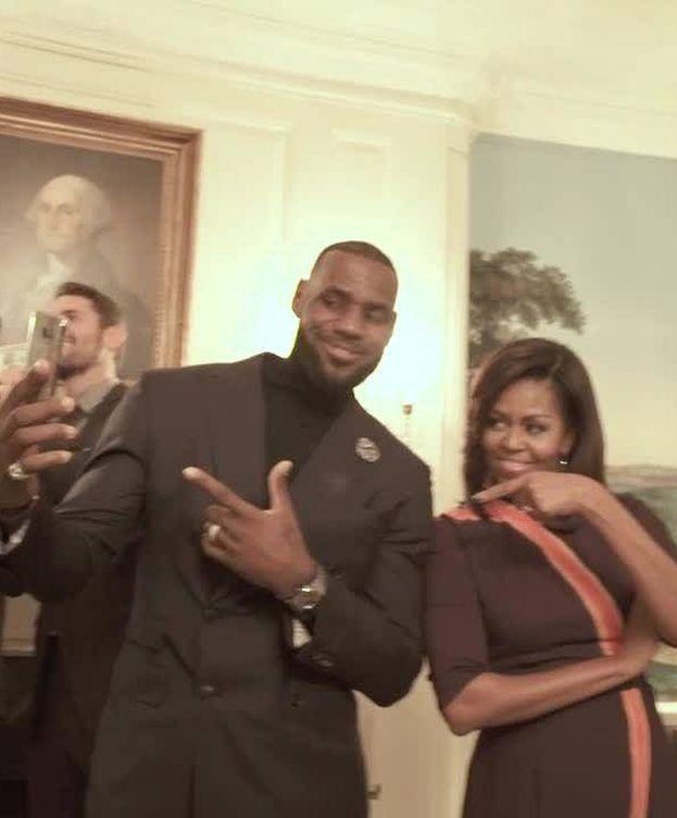 Foto: Michelle Obama y LeBron James participaron en el 'Mannequin Challenge'