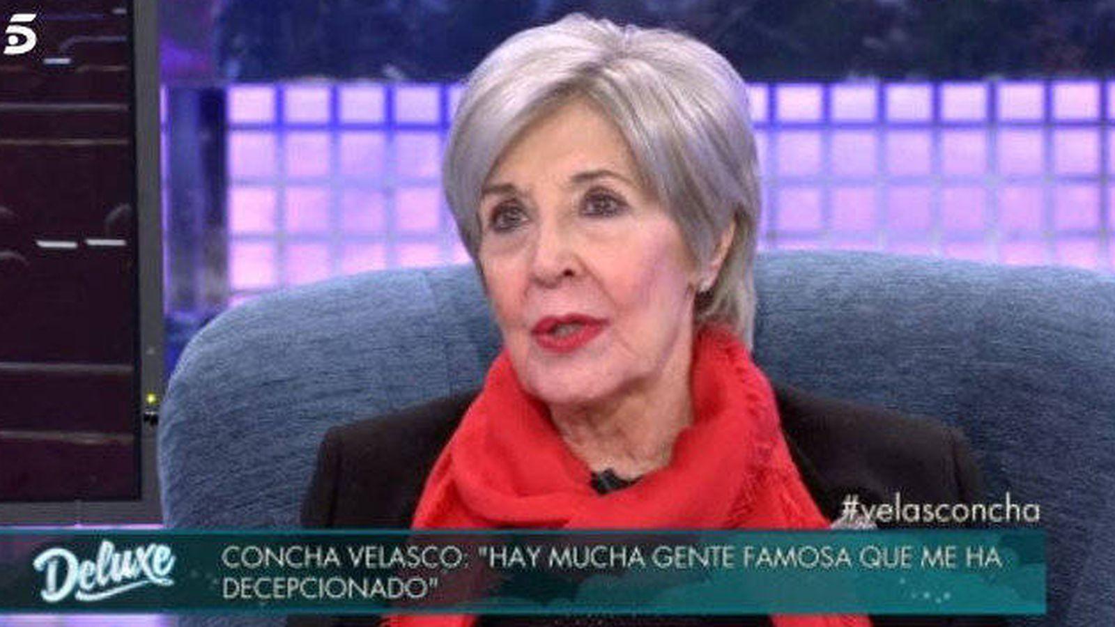 Foto: Concha Velasco habla de acoso en 'Sálvame Deluxe'.