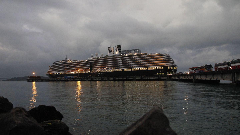 Vista del crucero MS Westerdam. (EFE)