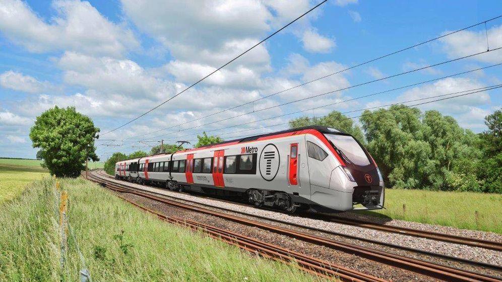 Foto: Simulación de uno de los trenes-tram que Stadler Valencia fabricará para la filial de Ferrovial en Gales.
