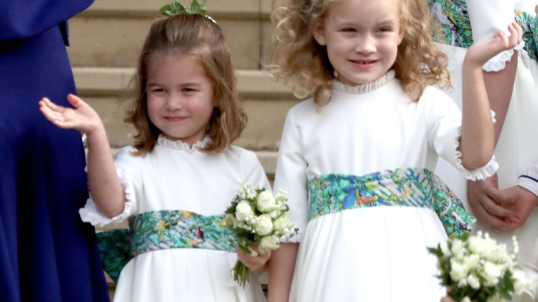 Maud Windsor junto a la princesa Charlotte. (Reuters)
