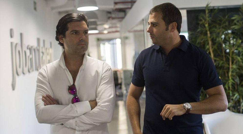 Foto: El empresario venezolano Alejandro Betancourt (izquierda) junto a Félix Ruiz, inversor de Jobandtalent. (Foto: Alejandro Betancourt/Antonio Heredia)