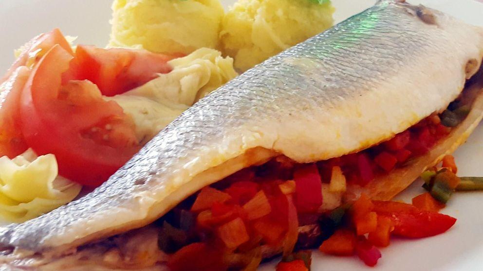 Lubina en papillote con verduras: porque el pescado no siempre es aburrido
