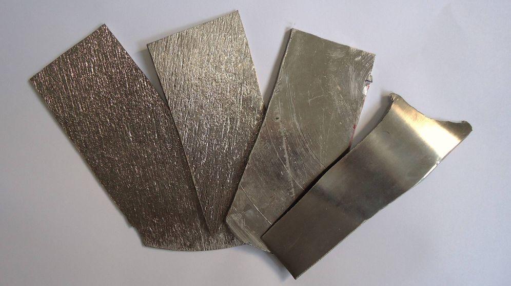 Foto: Tiras de niobio procesado, el metal más escaso del mundo (Wikimedia Commons)