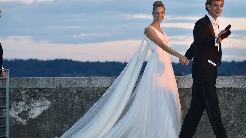 Foto: Pierre y Beatrice en la recepción posterior a su boda religiosa (Armani)