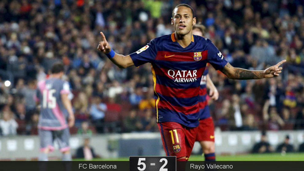 Exhibición nunca antes vista en Barcelona de Neymar, con cuatro goles